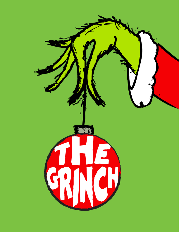 picture regarding Christmas Art Printable known as The Grinch No cost Artwork Printable for Xmas Xmas