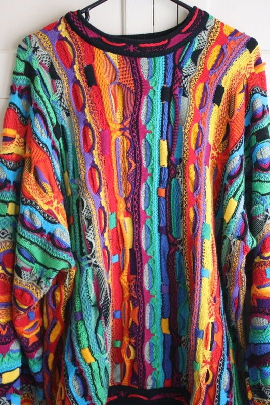 4b0e7085fb6 Details about Vintage Authentic COOGI 3D Multi-Colored Sweater Size ...