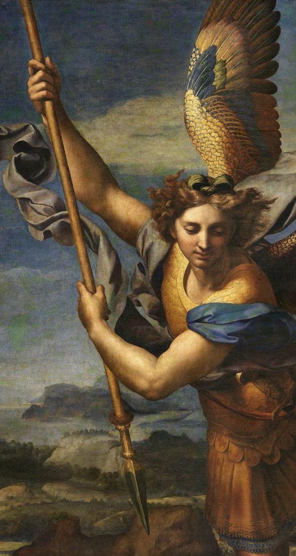 RaphaelSt. Michael Vanquishing Satan, 1518 Angel painting