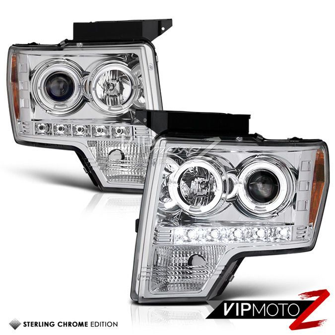 Best Quality 09 14 Ford F150 Led Halo Angel Eye Drl Projector Headlight Lamp Projector Headlights Ford F150 Headlights