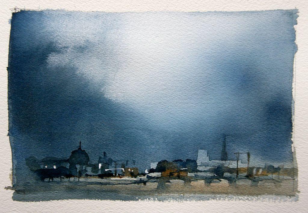 Paris limited palette sketch- John Lovett