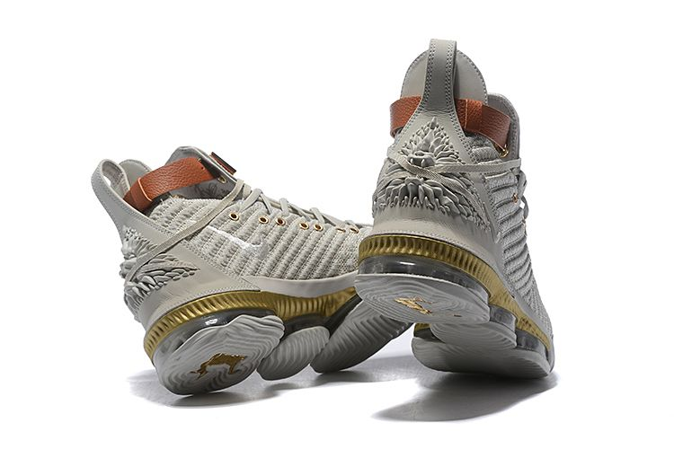 "2c086f146756 2018 Nike LeBron 16 ""Harlem Fashion Row"" Sail White Light Bone BQ6583-100"