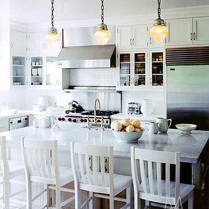 Perfect Madeline Stuart   Kitchens   White Bar Stools, White Counter Stools,  Vintage Schoolhouse Pendants