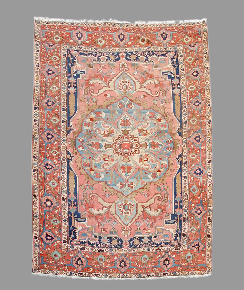 Persian Heriz Serapi rug, 19th C (4th Q)