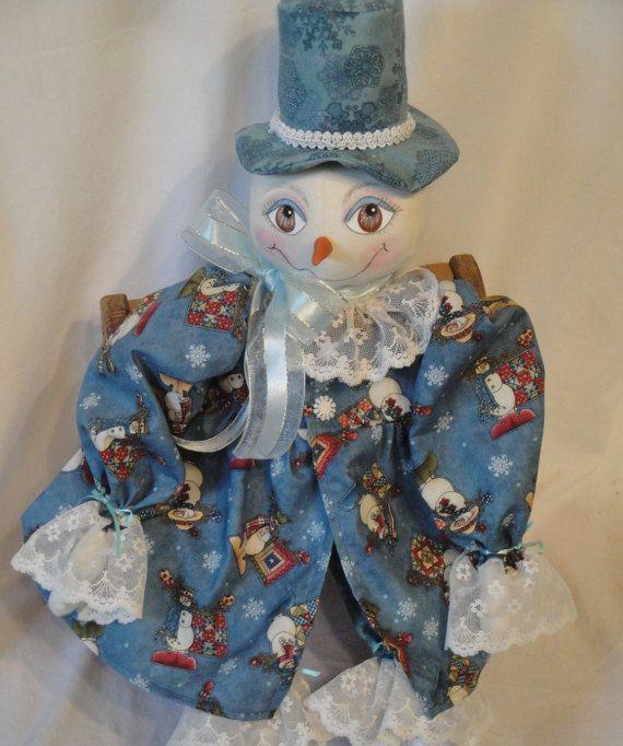 Snow lady Art Doll Snow doll hand made snow by MorningMistDesigns
