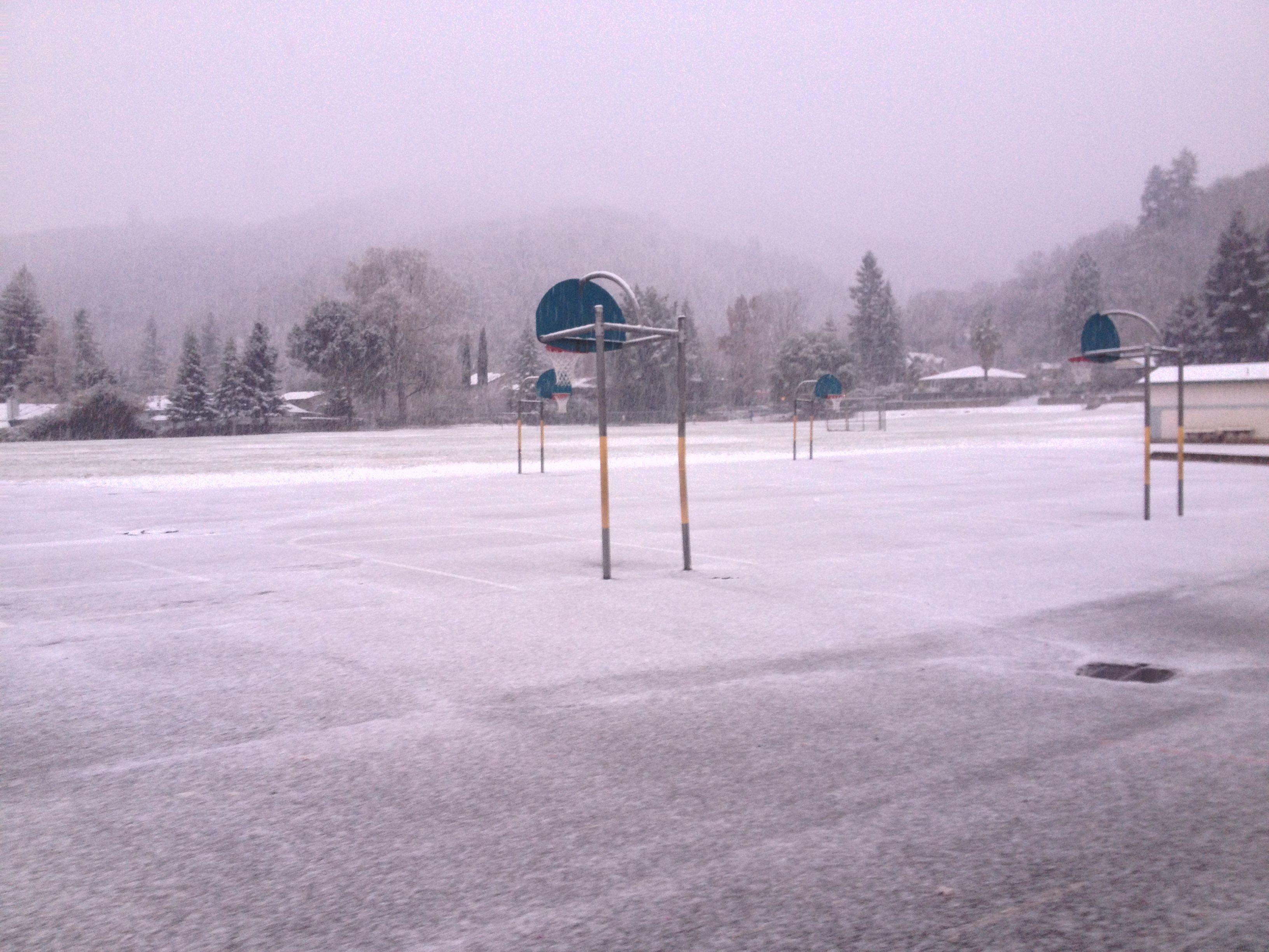 Snow in Ukiah, California Ukiah, California, Around the