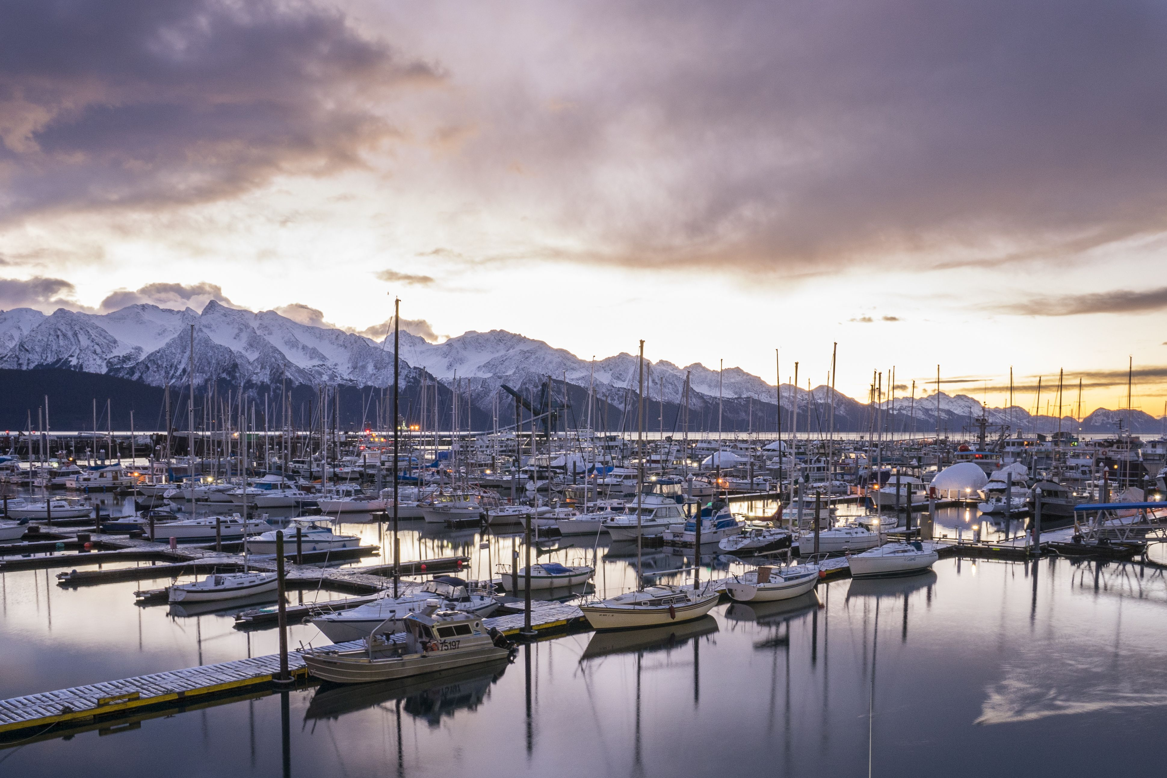 Winter Sunrise Views From Harbor 360 Hotel The Premier Waterfront Hotel In Seward Alaska Located D Kenai Fjords National Park Alaska Rv Parks And Campgrounds