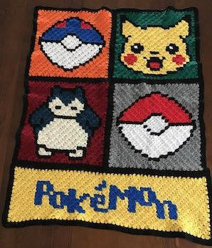 Gen 1 Pokemon Crochet Blanket Pattern | Etsy | 348x298
