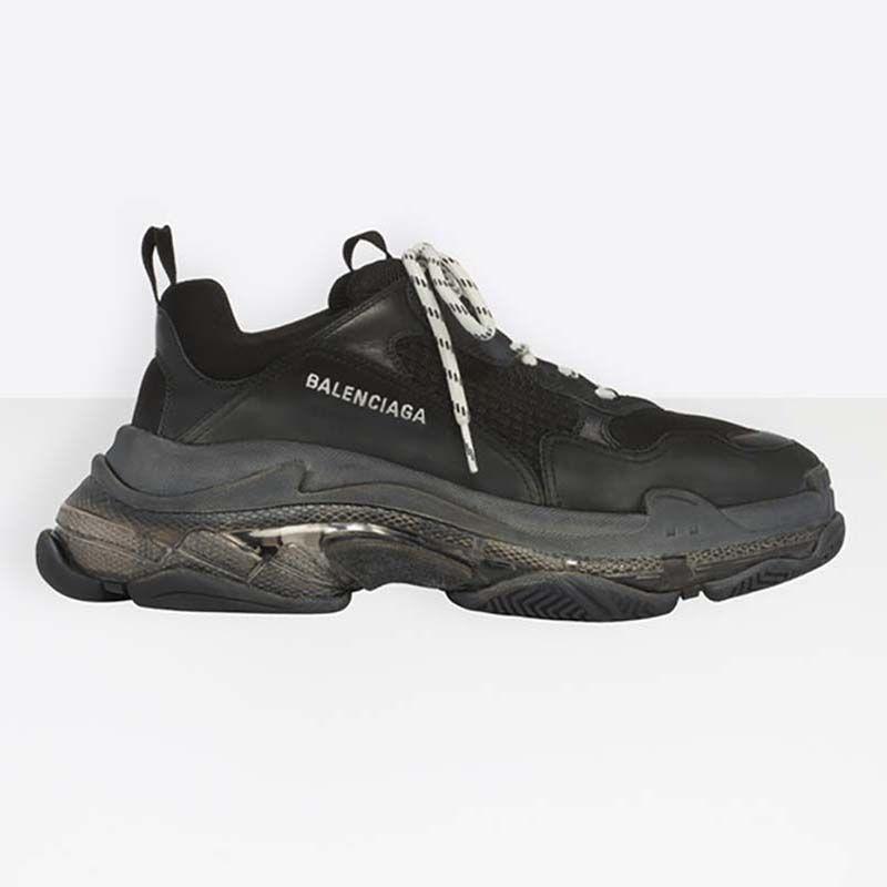 Balenciaga Unisex Shoes Triple S Clear