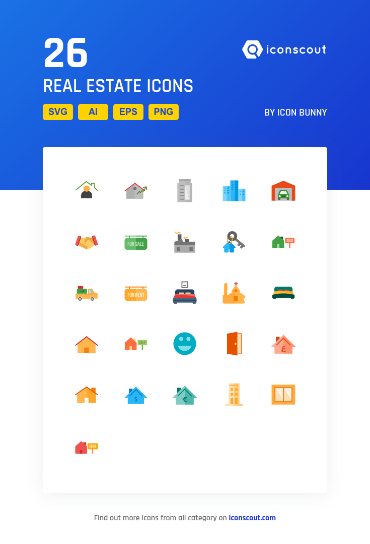 Download Real Estate Icon Pack Available In Svg Png Eps Ai Icon Fonts Real Estate Icons Icon Pack Flat Icon