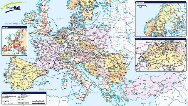 mapa interrail Mapa Interrail (viajar en tren por Europa) | Mapas molones de  mapa interrail