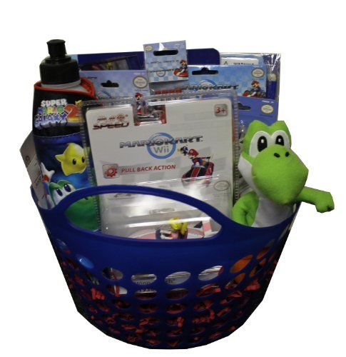 Nintendo super mario easter basket perfect for birthdays easter nintendo super mario easter basket perfect for birthdays easter christmas get well negle Images