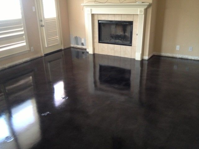 black stained concrete floors. Black stains  concrete floors MVL Concretes Blog YES Concrete