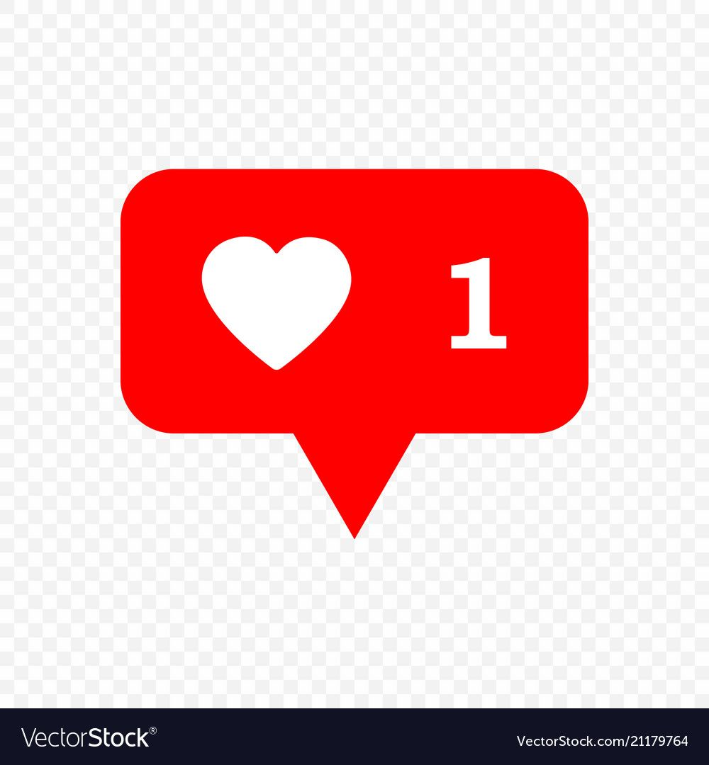 Like icon vector image on VectorStock in 2020 Instagram