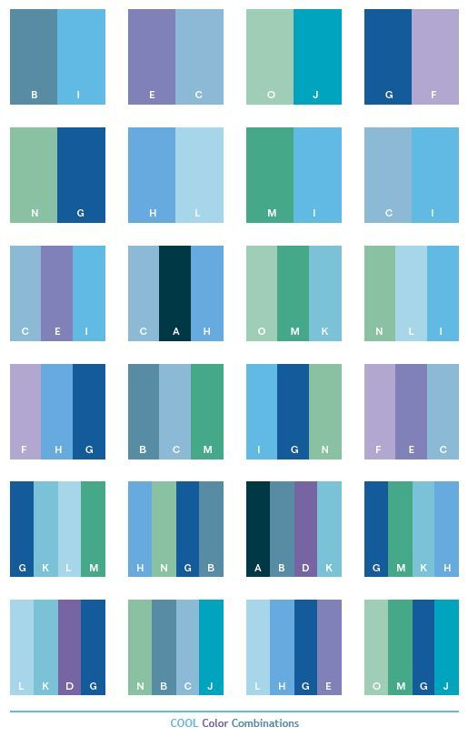 Cool Color Schemes Combinations Palettes For Print CMYK And Web