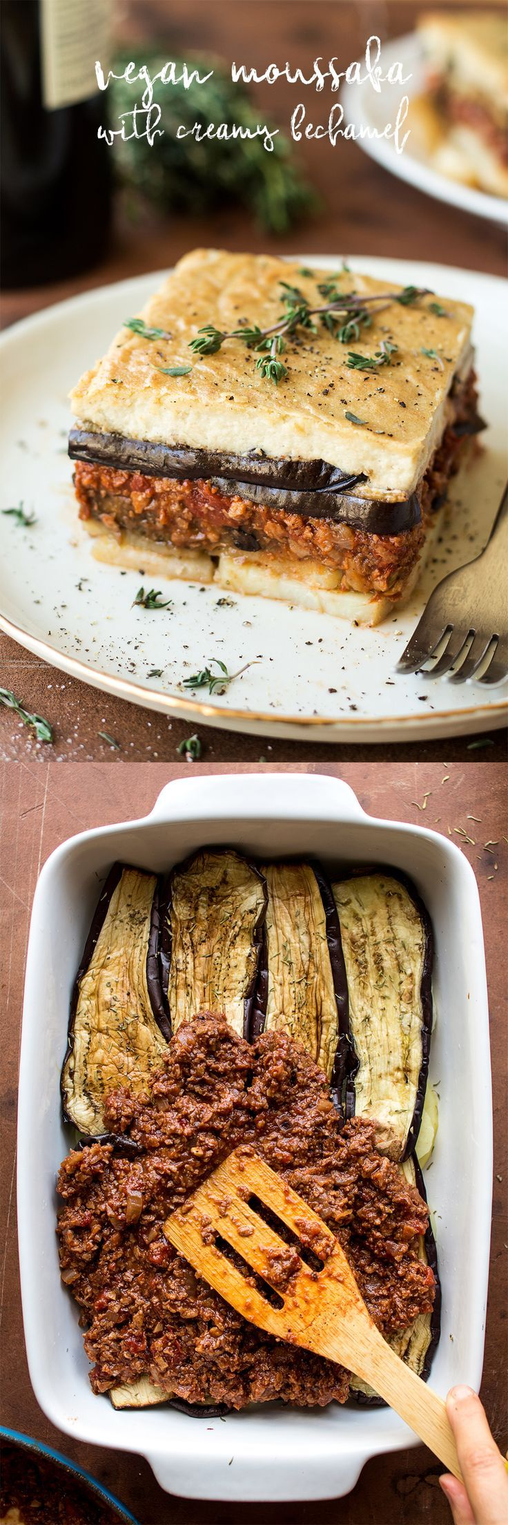 Vegan moussaka with creamy bechamel - Lazy Cat Kitchen