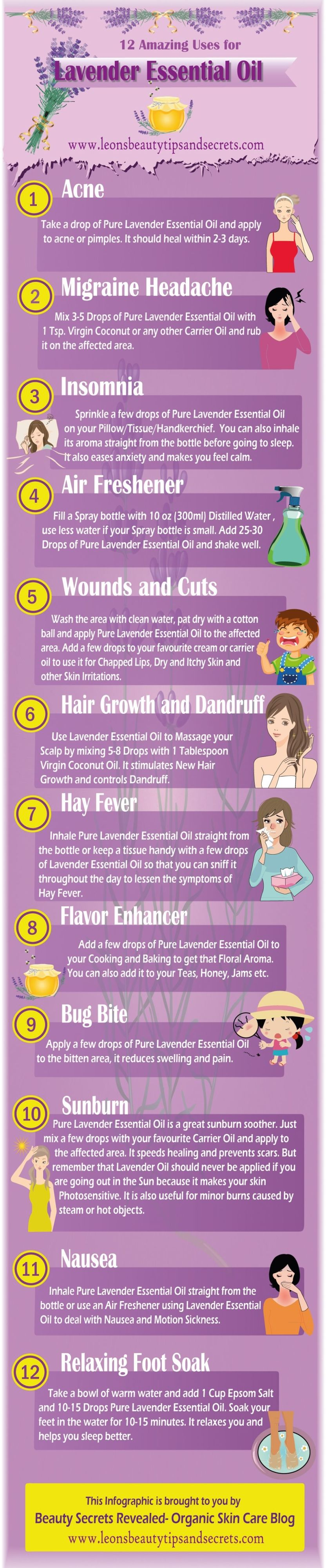 Uses for the Essential Oil Lavender - for more information on essential oils www.facebook.com/yleotks or www.facebook.com/groups/1441031559467944