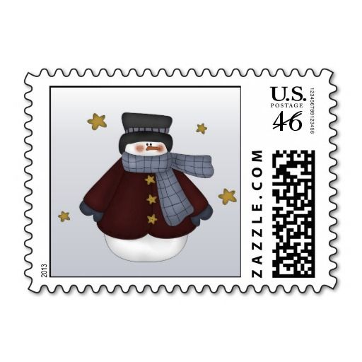 Cute+Snowman+Christmas+stamps+postage