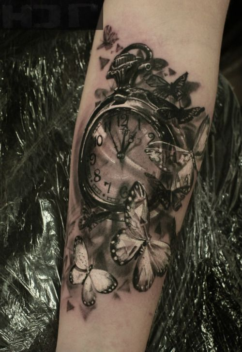 598e8770389c4 Clock Tattoo | Tattoos | Watch tattoos, Tattoos, Owl tattoo wrist