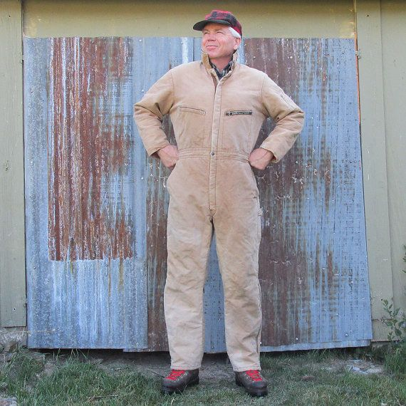 Vintage Key Imperial Duck Cloth Insulated Overalls