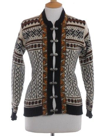 Picture of Vintage 1970's Fana Knit Nordic Cardigan 10