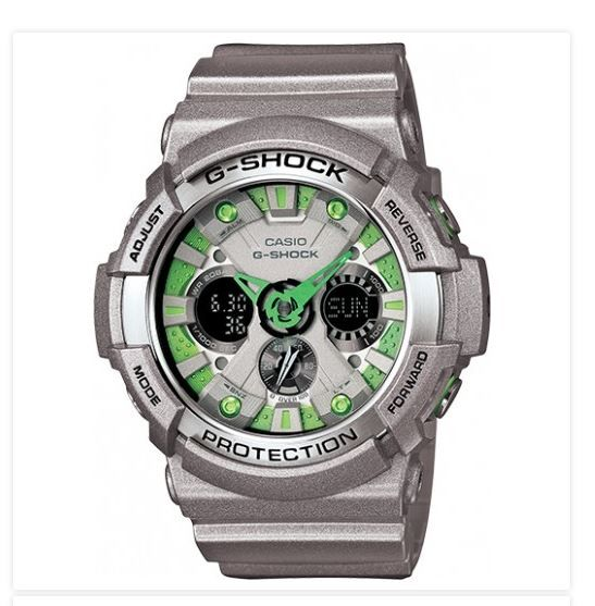 G Shock Casio GA-200SH Lime Gloss Sport Mirror Analog Digital Time Wrist Watch -  $115.99   Shock Resistant -200M Water Resistance - Anti-Magnetic Structure   http://topstreetwearclothingbrands.com/mens-urban-fashion-watches/  #MensUrbanFashionWatches #Watches #Gshock #MensUrbanFashion #UrbanFashion