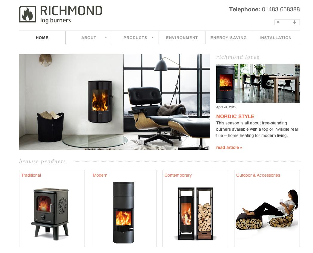 Richmond Log Burners Website | Deuce: Portfolio | Pinterest | Log ...