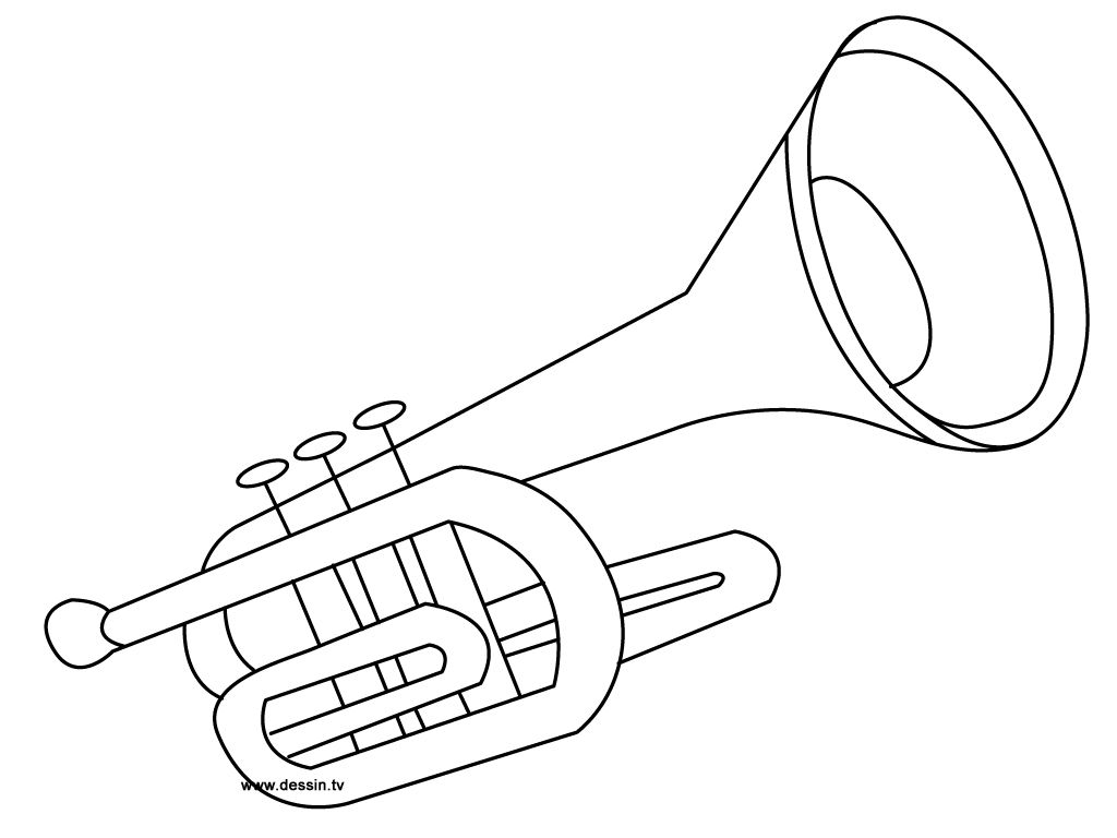 coloring trumpet coloring pages