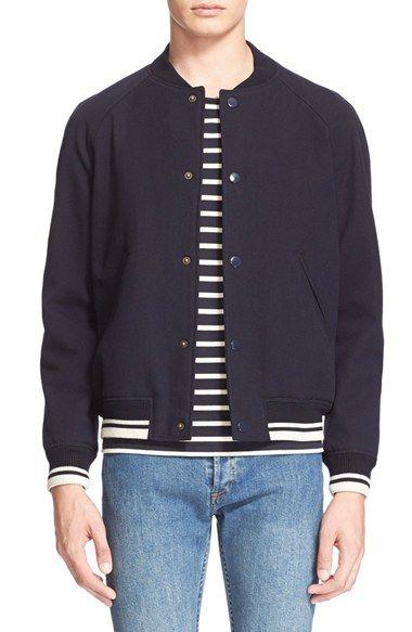 A.P.C. Cotton   Wool Baseball Jacket.  a.p.c.  cloth     A.P.C. Men ... 01137e1a3e1