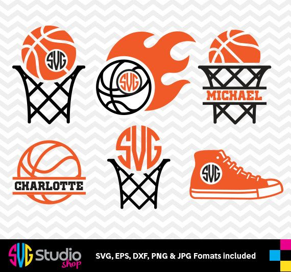 BASKETBALL SVG files, Silhouette, Die Cut, Vinyl Cutter, Monogram, Screen Printing SS-019