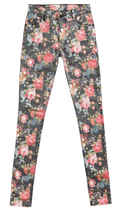 Printed jeans….