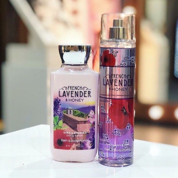 Lavender Honey رائحة اللافندر المميزة من باث اند بد ي وركس العطر مع اللوشن ٨ دينار كويتي للطلب واتس اب للن Body Lotion Bath And Bodyworks Lavender Honey