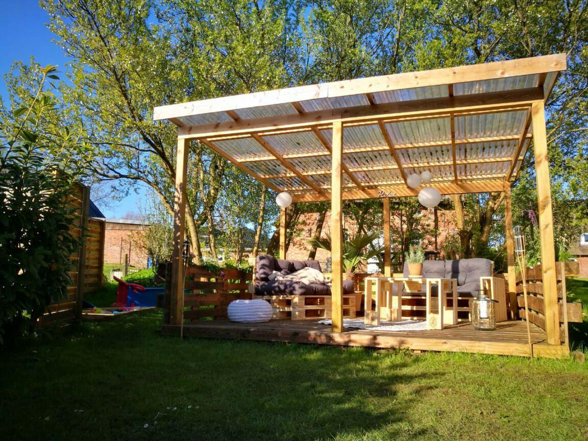 ᐅ Terrasse aus Paletten selber bauen Palettenmöbel DIY