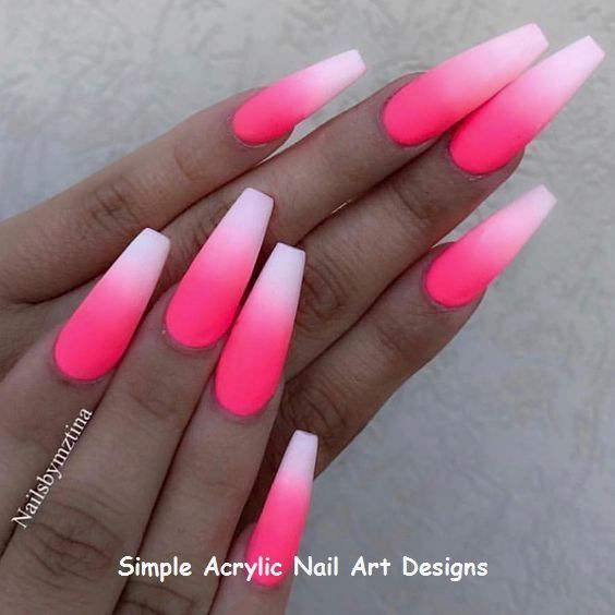 50 Gorgeous Ombre Matte Nail Designs You Will Love Pink Ombre Nails Ombre Acrylic Nails Glow Nails