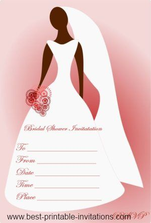 Free Printable Bridal Shower Invitations  Pink Bridal Shower