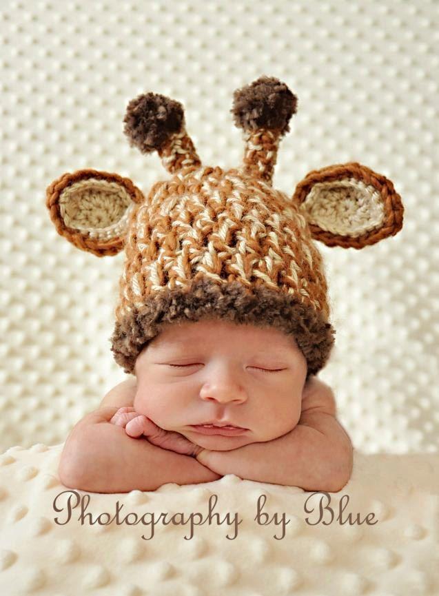 Newborn Baby Crochet Giraffe Hat Okay Slightly Ridiculous But C Mon Baby Hat Patterns Crochet Baby Crochet Baby Hats