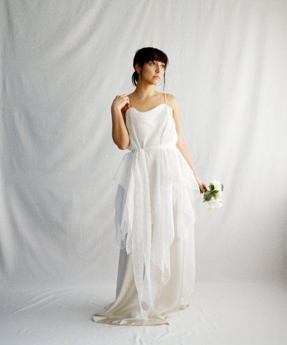 Bohemian wedding dress, boho wedding dress, hippie wedding dress ...