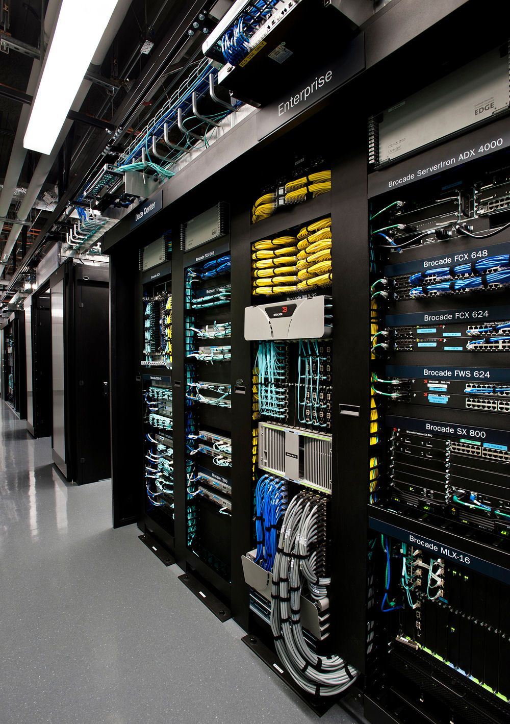 Server Racks In The Brocade Corporate Data Center In San