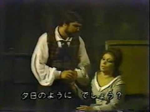 """Sono andati? Fingevo di dormire..."" La Boheme Act IV - Giacomo Puccini. Mirella Freni and Peter Dvorsky. Yokohama 1981."