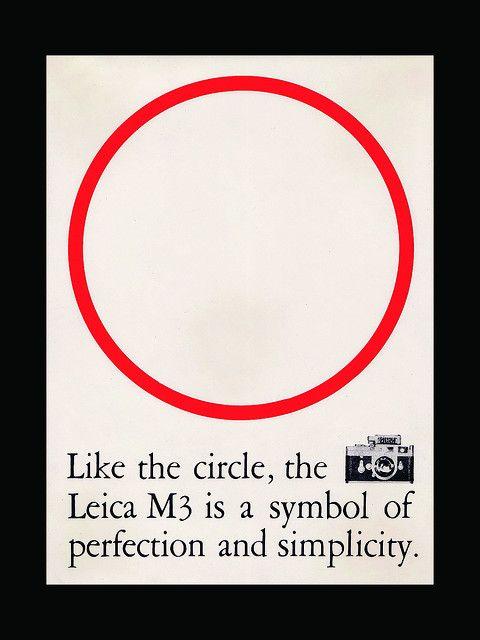 Simplement parfaite, cette pub ppur le Leica M3, circa 1960.