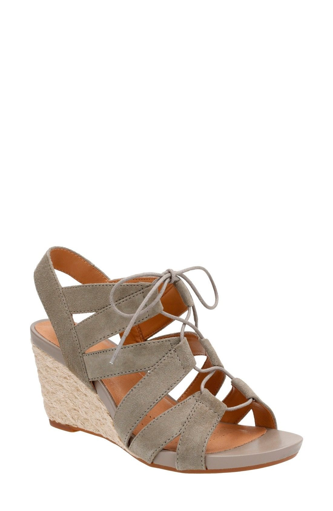 Clarks® Acina Chester Wedge Sandal (Women | Strappy wedges