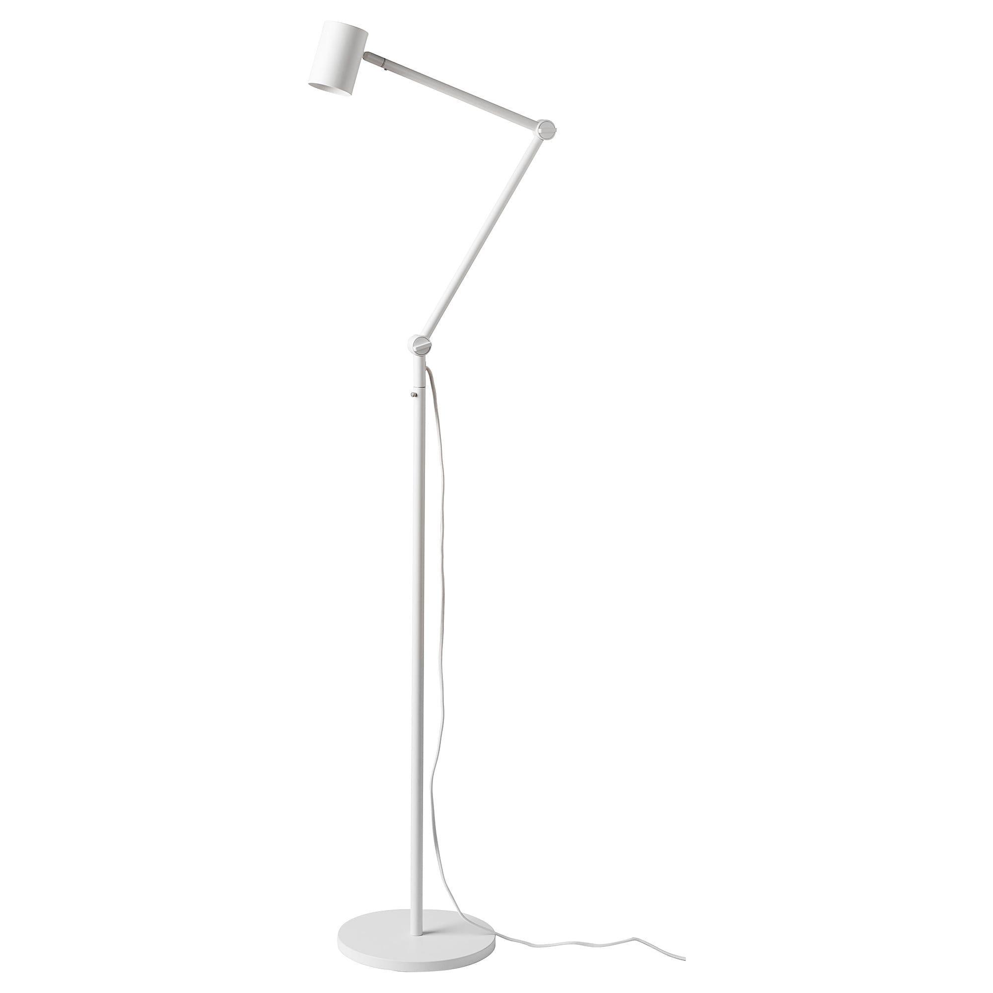Nymane Floor Reading Lamp White Lampen Bodenlampe Led