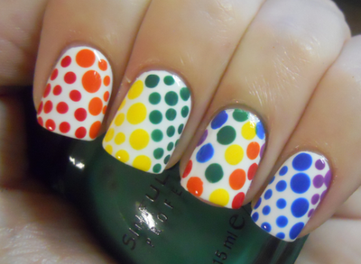 Nail art inspired by Twister
