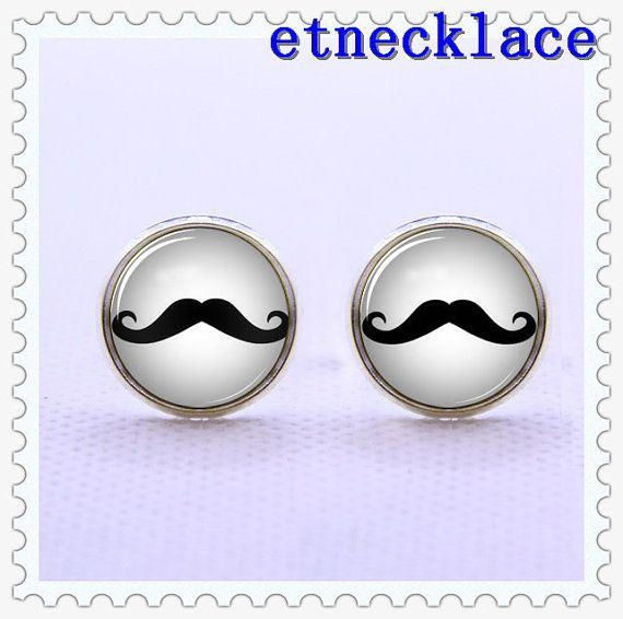 CufflinksBlack Mustache  cufflink Mens Gift vintage  di etnecklace