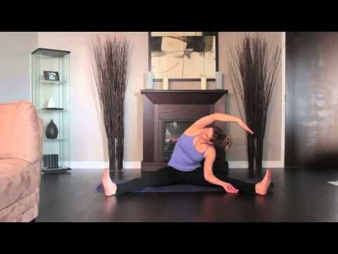 revolved head to knee stretch right  namaste yoga hatha