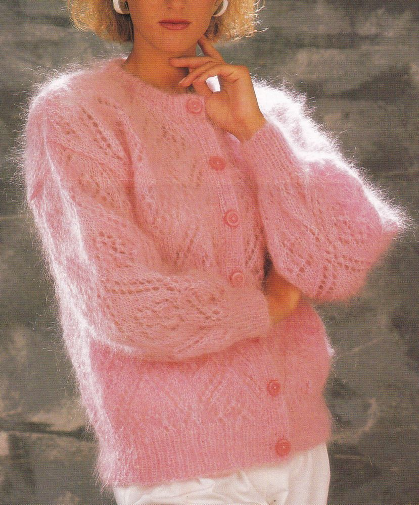 Vintage knitting pattern instructions to make a ladies fluffy lace vintage knitting pattern instructions to make a ladies fluffy lace cardigan bankloansurffo Image collections