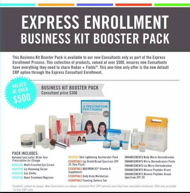 4d811f5a3ae Booster Kit! | Rodan + Fields | Rodan, fields business, Rodan ...