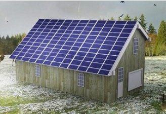 Waterproof Solar Roof Barn Structure 7 200w Solar Array Solar Roof Solar Roof Structure