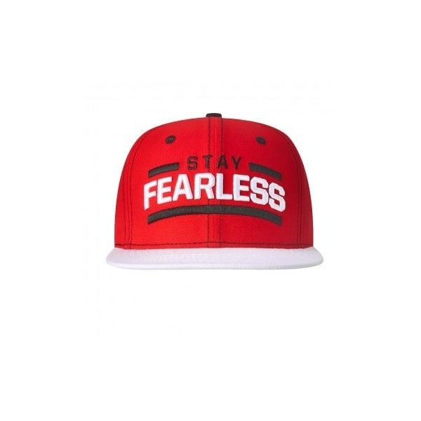 3060efa0b5b Nikki Bella Stay Fearless White Brim Snapback WWE Baseball Cap Hat ❤ liked  on Polyvore featuring accessories