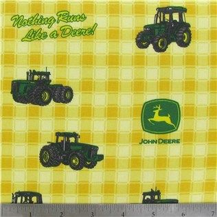 John Deere Fabric Is 44 45 Wide And 100 Cotton Care